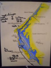 Our Magdelan Bay route