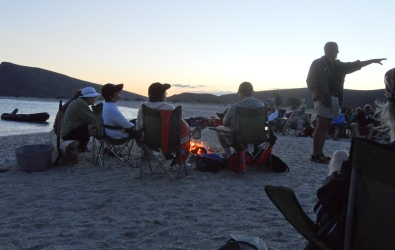 Beach fire and stories