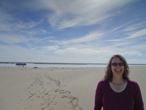 A nice man offered to take my picture in the dunes.